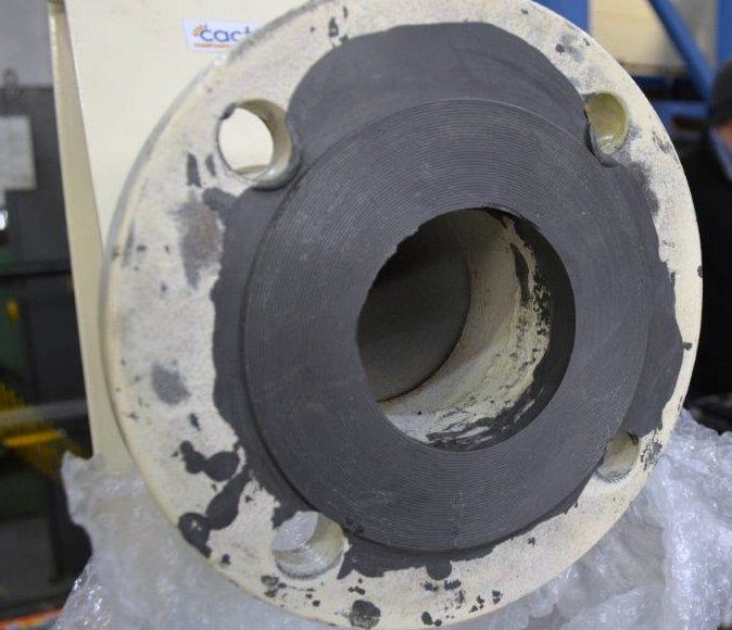 ARC 10 Metal Repair Compound is used as an effect flange face forming and flange repair technology