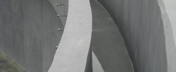 ARC 791 High Build Concrete Repair Chemical Resistant Coating is applied to a wastewater weir