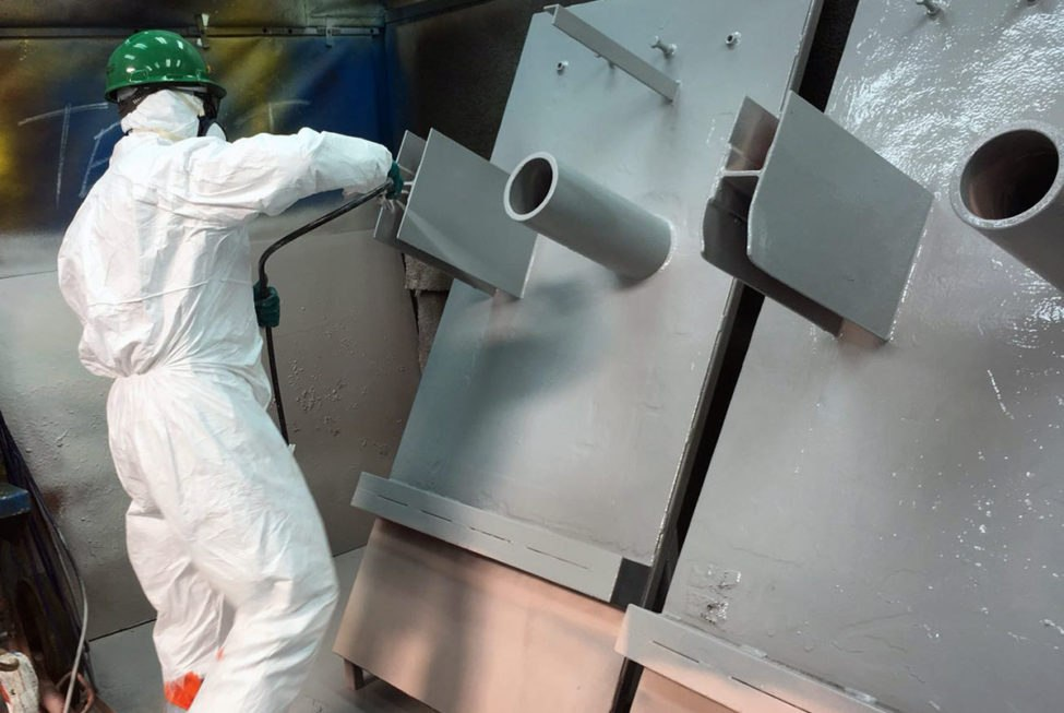 ARC HT-S High Temperature Spray Coating is applied by airless spray