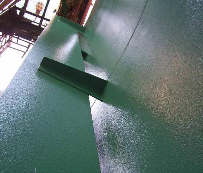 ARC S2 Ceramic Reinforced Coating is applied to water tanks flooring and walls
