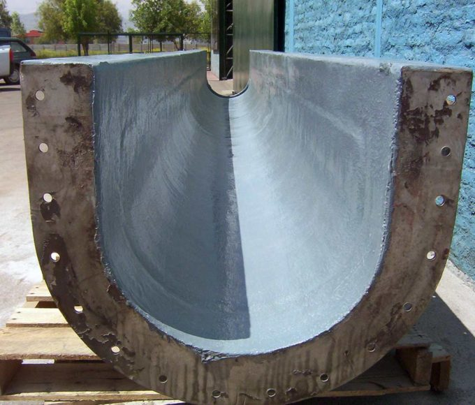 ARC S2 Ceramic Reinforced Coating is applied to transport screw trough of a wastewater plant