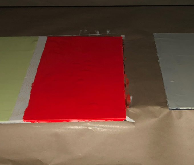 Day Glow High Visibility Epoxy Fluorescent Coating visibility results in dark conditions