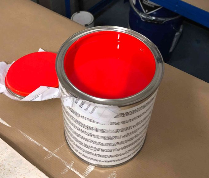 Day Glow High Visibility Epoxy Fluorescent Coating Industrial Fluorescent Paint in tin packaging