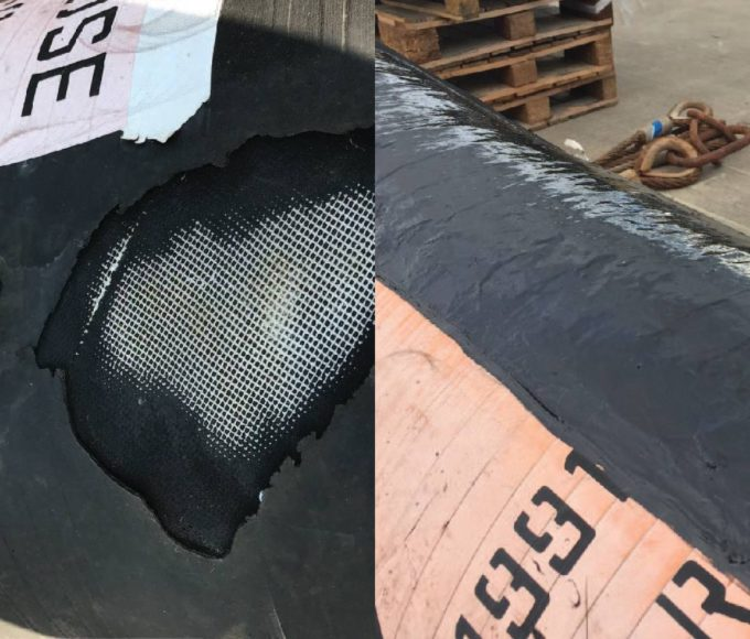 Urethane 80 Rubber Repair and Protection repairs offshore offload hose