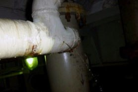 leak is detected on an offshore drains pipe