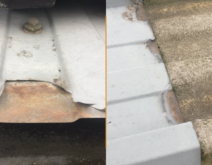 roofing corrosion damage