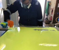 High Visibility Coating Polyaspartic Technology application