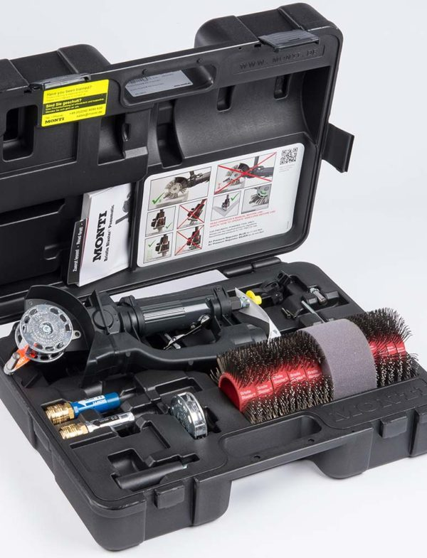 Bristle Blaster pneumatic tool set. Cactus Industrial is sole official UK and Ireland distributor of the Monti Bristle Blaster
