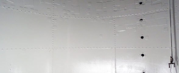 cleankeep 5000 protective coating is applied to interior of water and waster water tank