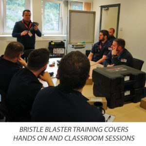 Bristle Blaster surface preparation technology covers hands on and classroom training