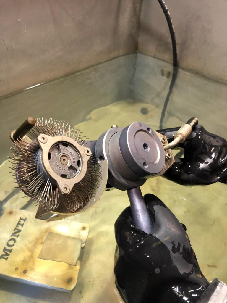 The Cleantech Subsea Bristle Blaster B20 underwater surface preparation tool