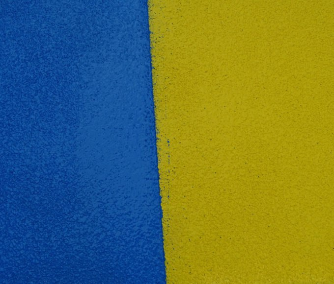 Results of PMMA-Based Anti-Skid Wearing Layer application results shows a 20mm overlap with no visible tie-in line.