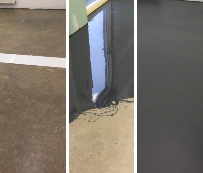 PMMA-Based Top Coat Sealer Coat on conrete floor