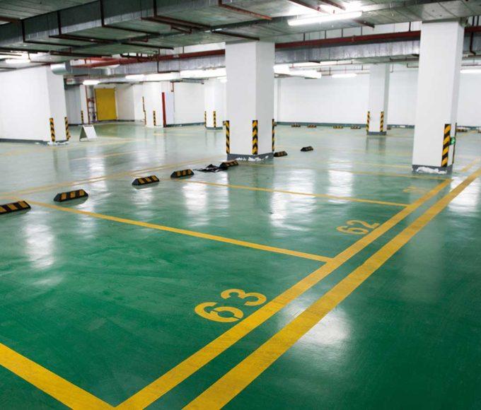 pmma-based top-coat car park for car park