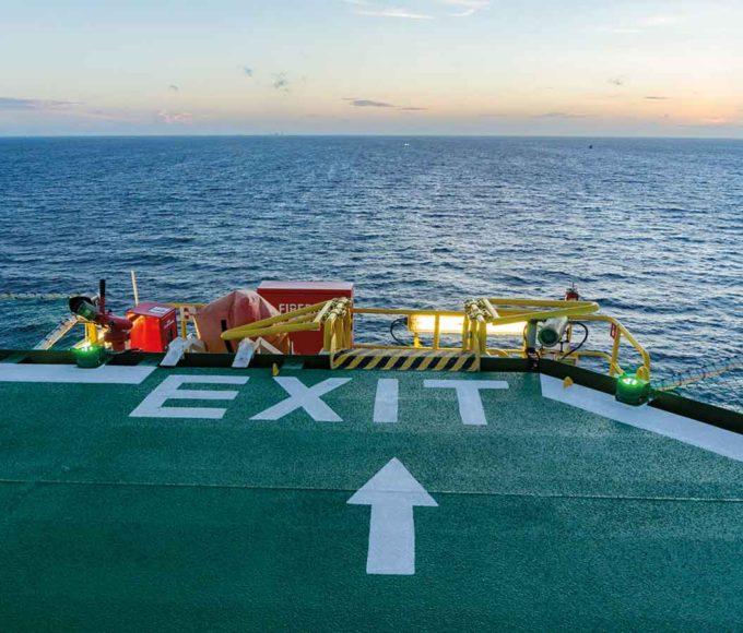 pmma-based anti-slip-paint exit offshore marine