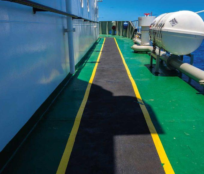 pmma-based top coat / sealer coat emergency walkway