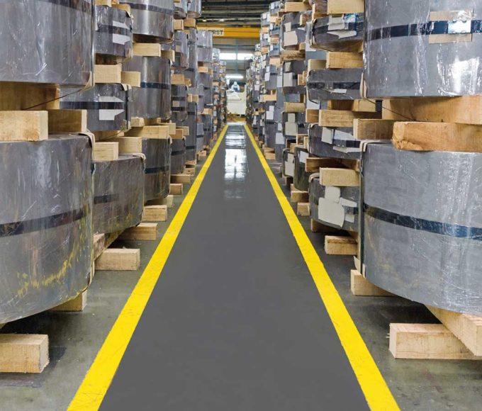 pmma-based anti-slip paint walkway warehouse