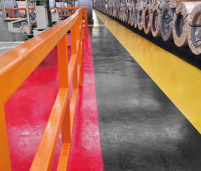 pmma-based anti-slip paint walkway warehouse commercial