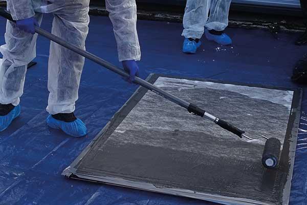 Waterproof Coating is applied on top of the fleece reinforcement