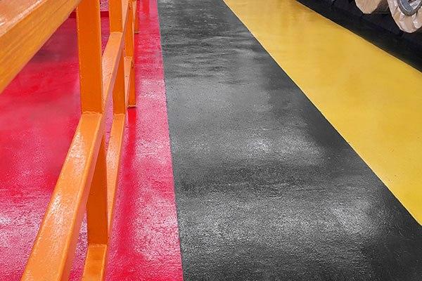 anti-slip surface repair for food sector