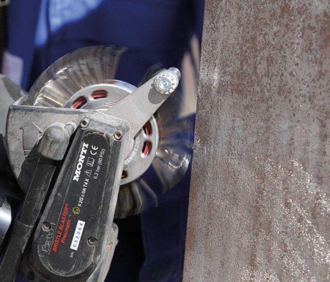 shot blaster alternative for corrosion removal
