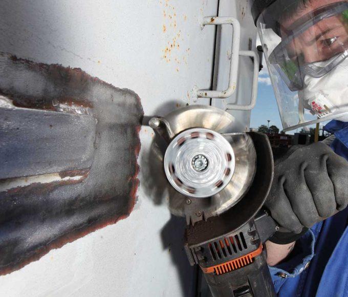 shot blasting alternative for weld seam preparation