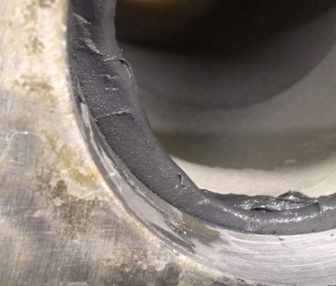 flange face corrosion metal repair compound bolt fitted