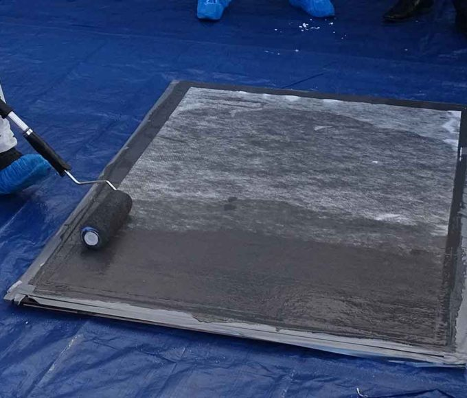 bridge deck waterproofing coating application