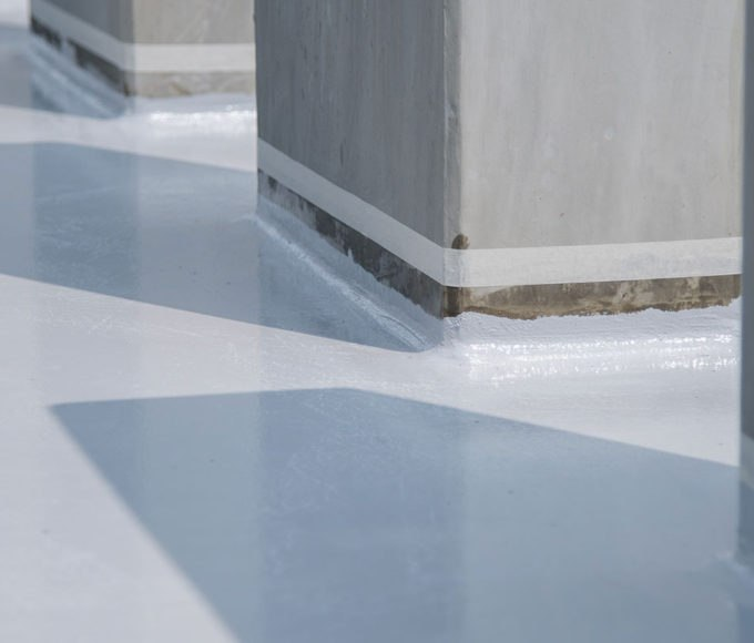 bridge deck waterproofing coating application complete
